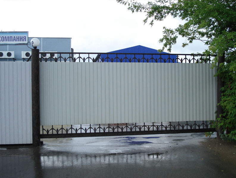Ворота еврогейт балка прокатная для откатных ворот сделать сам